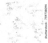 grunge black and white pattern. ... | Shutterstock . vector #759738094