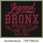 vintage varsity graphics and... | Shutterstock .eps vector #759738325
