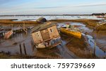 Old Boats On Mud Flats At...