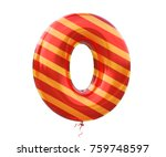 gold and red balloon stripe...   Shutterstock . vector #759748597