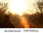 safari tracking guide sitting...   Shutterstock . vector #759749011