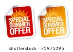 special summer offer stickers. | Shutterstock .eps vector #75975295