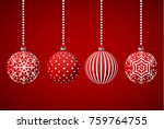 christmas ornament in red... | Shutterstock .eps vector #759764755