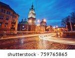 scenic view on illuminated...   Shutterstock . vector #759765865
