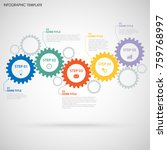 abstract info graphic with... | Shutterstock .eps vector #759768997
