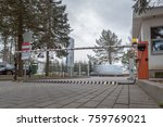 a breakpoint with barrier and... | Shutterstock . vector #759769021
