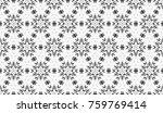 black and white seamless... | Shutterstock . vector #759769414