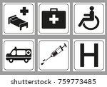 hospital icon set   Shutterstock .eps vector #759773485