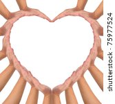 conceptual symbol of love....   Shutterstock . vector #75977524