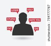 teenager boy victim of... | Shutterstock .eps vector #759777787