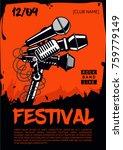 music festival. poster template.... | Shutterstock .eps vector #759779149
