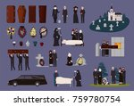 funeral service and ceremony... | Shutterstock .eps vector #759780754
