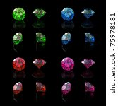 collections of gems isolated on ... | Shutterstock . vector #75978181