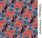 autumn colored seamless pattern ... | Shutterstock . vector #759784651