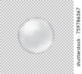 transparent glass sphere with... | Shutterstock .eps vector #759786367