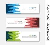 set of abstract design banner... | Shutterstock .eps vector #759786499