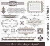vector set of ornate page decor ... | Shutterstock .eps vector #75978694
