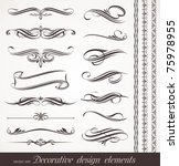 vector decorative design... | Shutterstock .eps vector #75978955