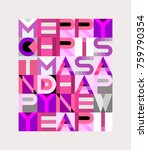 merry christmas and happy new... | Shutterstock .eps vector #759790354