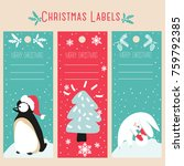 christmas labels and template | Shutterstock .eps vector #759792385