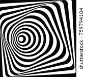 3d tunnel optical illusion. a... | Shutterstock .eps vector #759794104