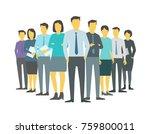 leader boss director team... | Shutterstock .eps vector #759800011