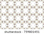 colorful seamless ornament for... | Shutterstock . vector #759801451