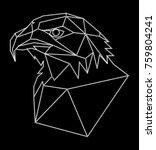 Geometric Eagle Head Design As...