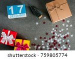 december 17th. image 17 day of... | Shutterstock . vector #759805774