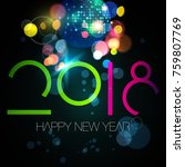 happy new year illustration... | Shutterstock .eps vector #759807769