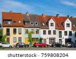 typical town houses in rostock. ... | Shutterstock . vector #759808204