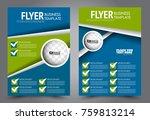 business flyer design template. ... | Shutterstock .eps vector #759813214