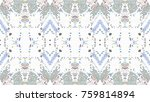 mosaic colorful horizontal... | Shutterstock . vector #759814894