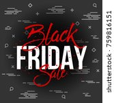 abstract vector black friday... | Shutterstock .eps vector #759816151