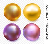shiny gold and purple bead... | Shutterstock .eps vector #759818929