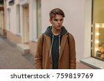 stylish fashionable guy in a... | Shutterstock . vector #759819769