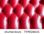 close up of a leather couch for ... | Shutterstock . vector #759828631