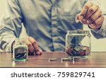 save money for retirement and... | Shutterstock . vector #759829741