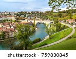 panoramic view of bern in a...   Shutterstock . vector #759830845