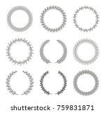 set of black and white... | Shutterstock .eps vector #759831871