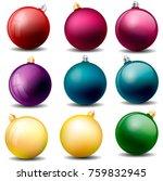 christmas balls isolated vector ...   Shutterstock .eps vector #759832945