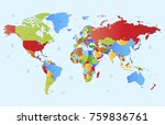 color world map vector. | Shutterstock .eps vector #759836761