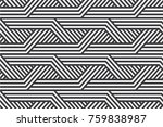 black and white seamless... | Shutterstock .eps vector #759838987