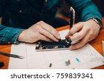 repair mobile phone | Shutterstock . vector #759839341