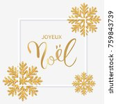 french text joyeux noel with... | Shutterstock . vector #759843739
