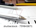 business background with graph  ... | Shutterstock . vector #759843871