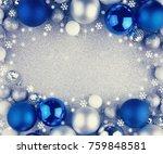 christmas balls o shine... | Shutterstock . vector #759848581