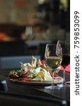 mediterranean food gourmet chef'... | Shutterstock . vector #759853099