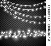 christmas lights isolated on... | Shutterstock .eps vector #759855685