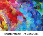 abstract texture impressionism... | Shutterstock . vector #759859081